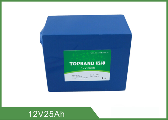 Topband 12V 25Ah Deep Cycle Lithium Battery Pack For Energy Storage