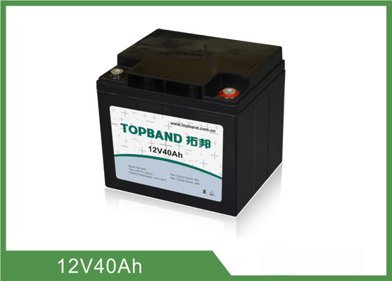 Long Lasting Medical Equipment Batteries 12V 40Ah Prismatic Type