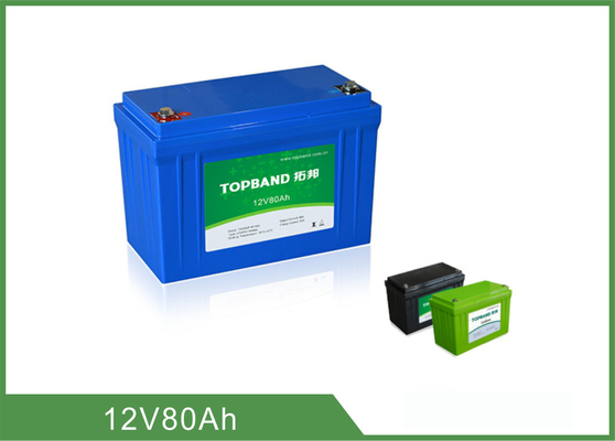 Durable LiFePO4 Deep Cycle Marine Battery 12V80Ah Prismatic Cell Series Connection